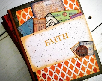 Faith Prayer Journal with Unlined Pages