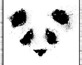 Panda Wall Print, Panda Poster, Panda Bear, Nursery Panda, Animal Print, T-shirt Art, Nursery Print, Nursery Decor, Nursery Animal Art