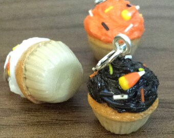 Fall Sprinkle Cupcake Miniature Food Clay Charms