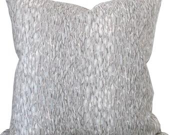 Chromis Metal-Designer Decorative Pillow Cover-Kravet-Animal Print-Accent Pillow-Single Sided