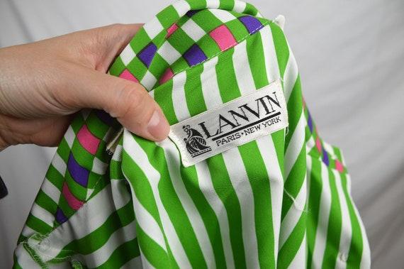 Vintage Psychedelic Dress Shirt Lanvin 70s Designer 1970s 4qwSxa4R
