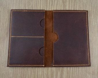 Passport Cover & Wallet | Passport Holder | Full Grain Leather | Kodiak | Handmade | Made in the USA