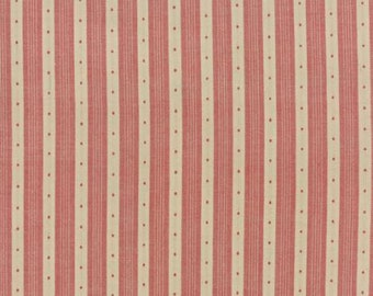 Petite Woven Silky Cotton Stripe Rouge - 1/2yd