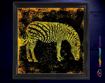 "Zebras - 12"" x 12"" HD Digital Prints In Four Colors"