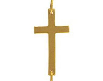 Natural Bronze Gold Cross Link