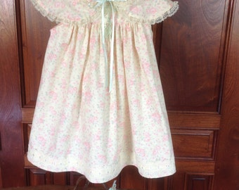 """Girl's Handmade Dress, Capelet, and Purse, Size 4-6--""""Charlotte"""""""