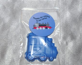 Train Party Favors, Crayons, Train Party Favors, Recycled Crayons and Stickers/ 20 Train Stickers and 20 Train Crayons