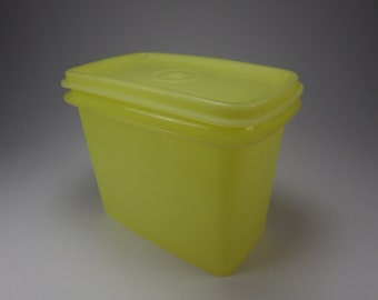 Tupperware, Small 3 1/2 Cup Yellow Storage Container with Lid