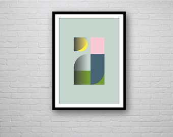 Sister - Abstract Geometric Art