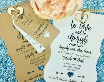 Rustic Wedding Invitation, Vintage Wedding Invitation Bundle