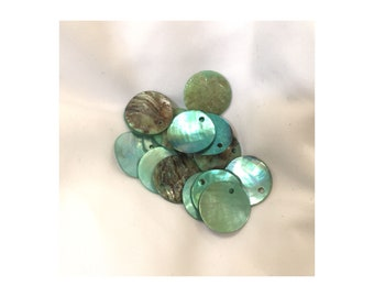 Green Shell Flats 16 mm Round