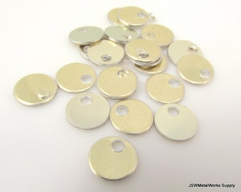 """100 0.35 Inch Shiny Gold Anodized Aluminum Tags, Small Blank Discs, 0.35"""", Engraving Blank, Etching Blank, Stamping Blank"""