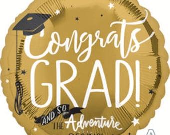 Graduation Adventure Balloon/ Graduation Balloon/ Graduation Party Balloon/ Graduation Decor