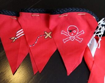 Pirate pennant wreaths