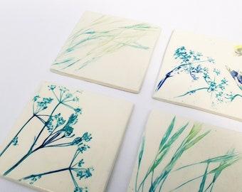 Meadow Design Ceramic Coasters/Tiles