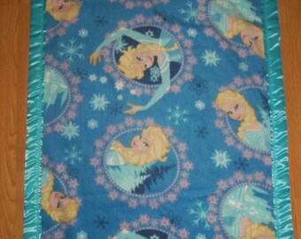 "Homemade ""Frozen's Elsa"" fleece blanket"