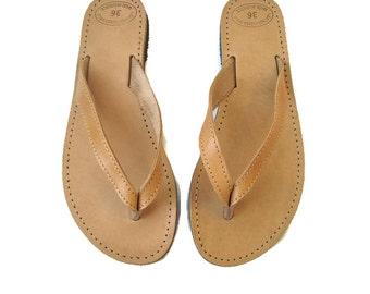 Sandales pour hommes, sandales grecques, sandales en cuir, sandales en cuir grec, tongs en cuir, sandales en cuir marron, sandales naturel