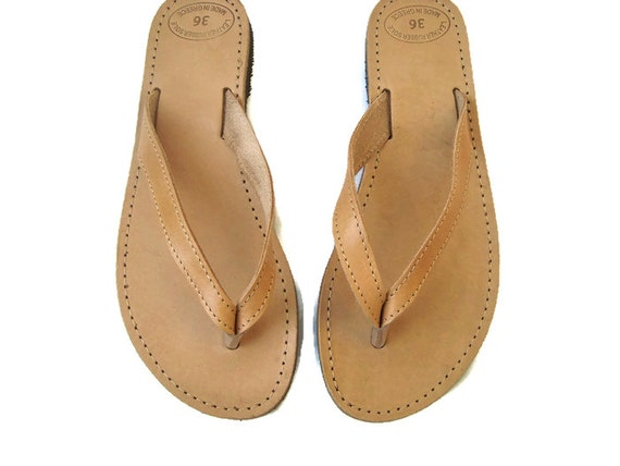 Womens Leather leather Leather sandals Summer flats flops sandals Greek sandals sandals leather Brown flip sandals Greek g54qw4