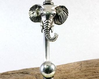 Elephant head, bracelet, 925 sterling silver