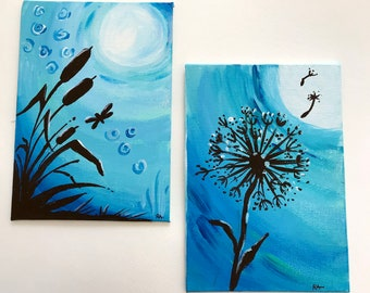 Moonlight Nature Paintings