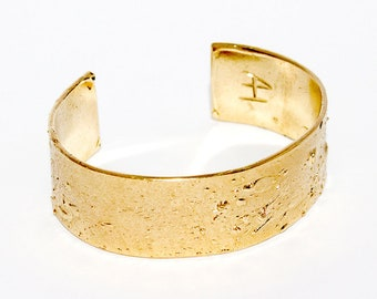Women's hard Bronze Gold plated bracelet collection tribute to Jackson Pollock-Arlo Haisek, made in Italy