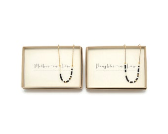 Mother In Law & Daughter in Law || Morse Code Necklace Set, Mother In Law Gift Daughter In Law Gift, Mother-In-Law, Daughter-In-Law, Wedding