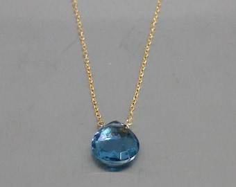 Blue Hydro Quartz Necklace (10mm)
