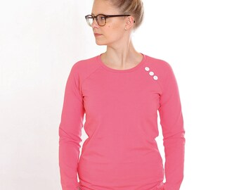 """Sweater """"Emma"""" with buttons//coral"""
