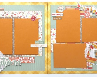 Autumn 2 Page Scrapbook Page Kit