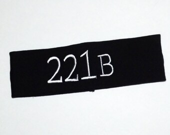 Embroidered Headband - Sherlock - 221B - Comes As Shown