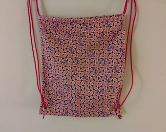 Cow Print Drawstring Bag