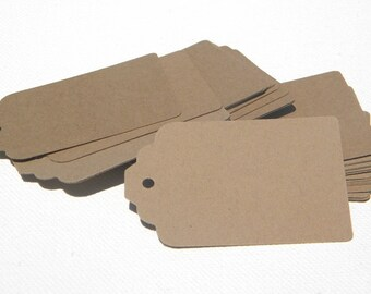 250 Paper Tags in kraft card stock - ready to decorate - gift tags - wedding favor tags - blank tags