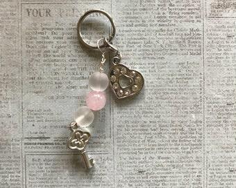 Mini Keychain - Heart Lock & Key