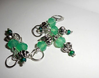 Jaded stitch markers by AnniePurl