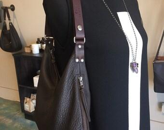 "Leather Small ""V"" Bag"