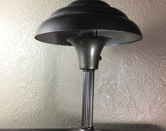 Vintage UFO Flying Saucer Industrial Table or Desk Lamp