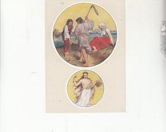 "C1940-50 Beautiful Artistry Postcard-Prague-Sign Of The Zodiac-VIRGO-Unused-4"" X 6"""