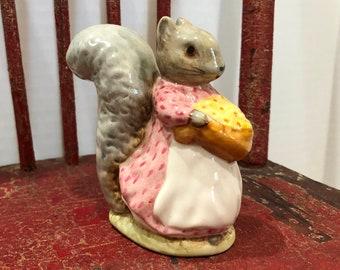"Beatrix Potter's ""Goody Tiptoes"" Squirrel Figurine-F. Warne & Co. Ltd., Copyright 1961, Beswick, England"