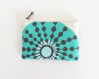 SALE Mini zipper pouch  - sun burst