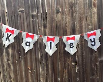 Pee Wee Herman themed garland