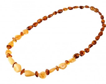 Baltic Yellow Cognac Amber Necklace Beads
