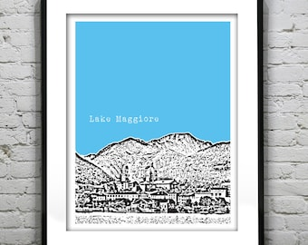 20% OFF Memorial Day Sale - Lake Maggiore Poster  Art Print Europe Italy