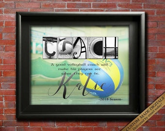 Volleyball Coach Gift, DIGITAL, Printable Coaches Gift, Volleyball Coach Appreciation, Volleyball Thanks, Team Gift Coach Retirement Ideas