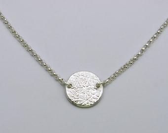 Silver fingerprint necklace sterling silver necklace silver fingerprint necklace fingerprint link necklace fingerprint layer necklace personalized fingerprint necklace solutioingenieria Gallery