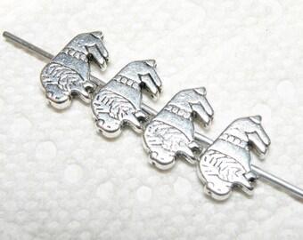 Ten (10) Southwestern Design Bison Buffalo Pewter Spacer Beads