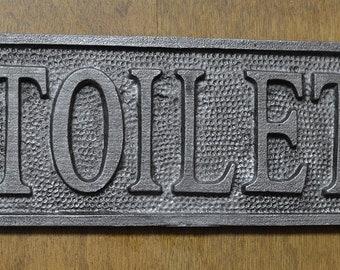 Plaque - Sign - Cast Plaque - TOILET - Door Sign - Bathroom Sign - Door Plaque - Awesome Quality - Restaurant - Vintage - Industrial