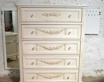 Painted Cottage Chic Shabby Romantic French Dresser DR927
