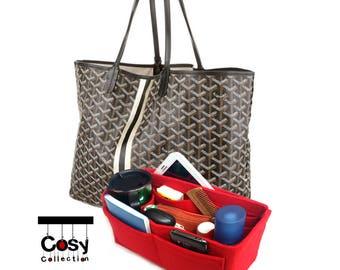 Goyard Bag Purse Organizer, Bag Purse insert for Goyard, Goyard St Louis Organizer, Goyard Bags, Goyard Handbag organizer, Felt organizer