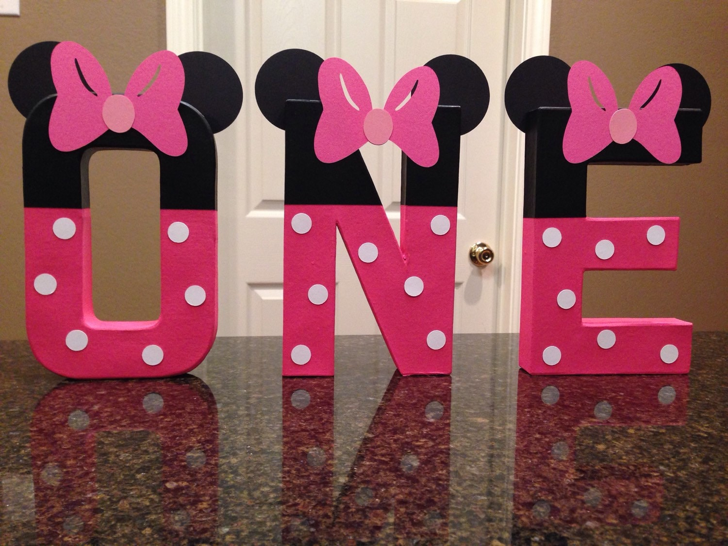 Minnie Mouse Custom Name Letters price is per letter