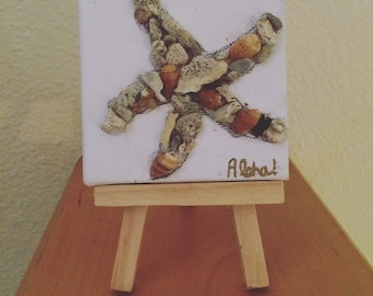 Starfish Mini Canvas with Easel